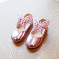 Spring style kids shoes girls shoes pu leather single shoes cute bowknot girls shoes children