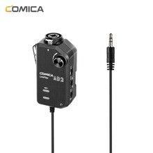 Comica AD2 XLR/6,35 мм микрофонный предусилитель с XLR/гитарный адаптер сопряжения для iPhone iPad Mac/PC, Android Phone DSLR камер