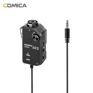 Comica Interface-Adaptor Microphone Preamp Phone-Dslr-Cameras iPad with Xlr/guitar