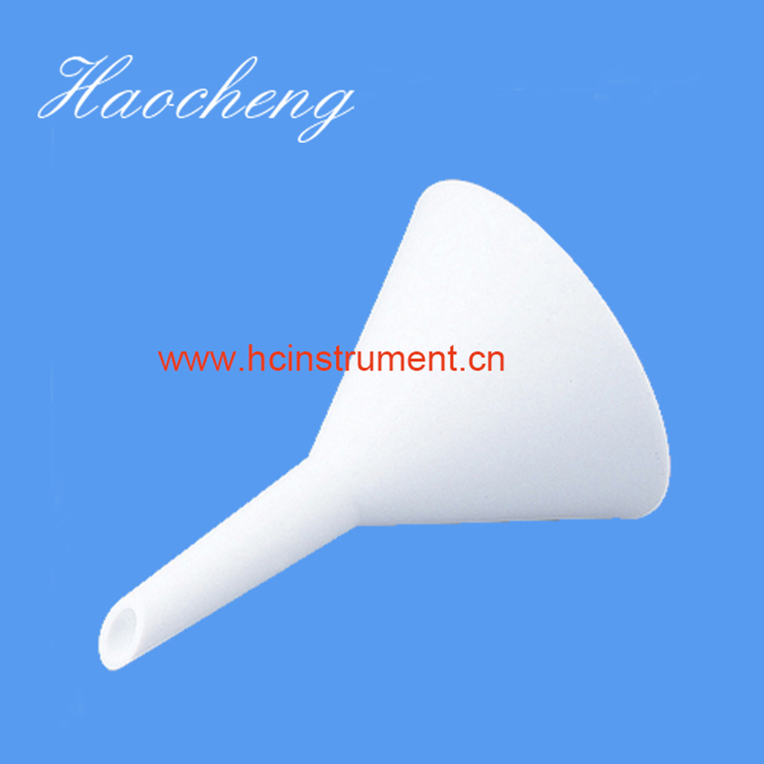 white chemistry laboratory equipment plastic PTFE separatory  funnel купить