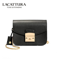 T2003 2017 New Genuine Leather Women Chain Handbag Crossbody Bag Girls Flap Bolsas Women Mini Shoulder