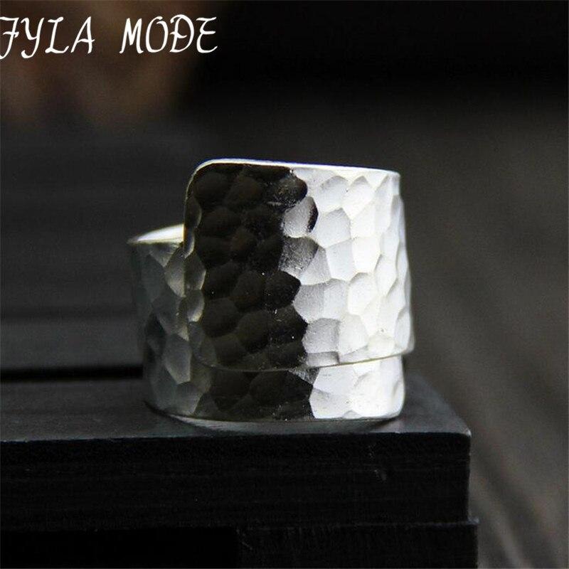 S999 999 Fine font b Jewelry b font Silver Open font b Ring b font Male
