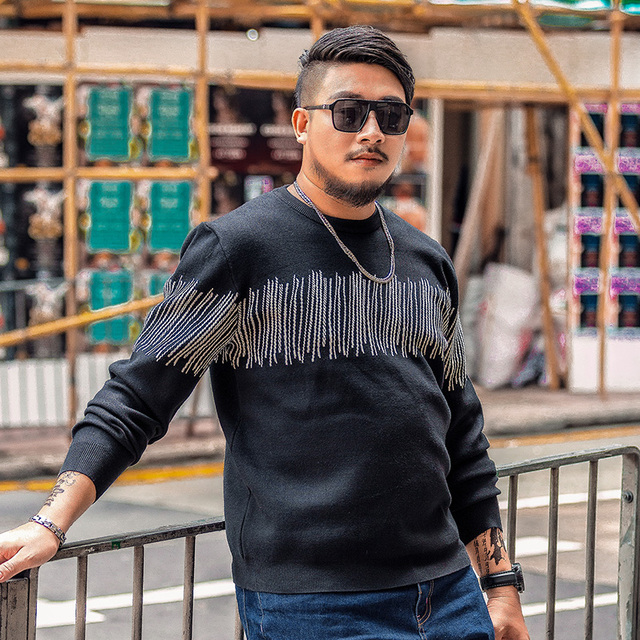 c1d2c6c2a70 US $58.94 |2017 tide brand plus size men clothing big size men sweaters 6xl  7xl knitted wear Korean style casual knitwear-in Pullovers from Men's ...