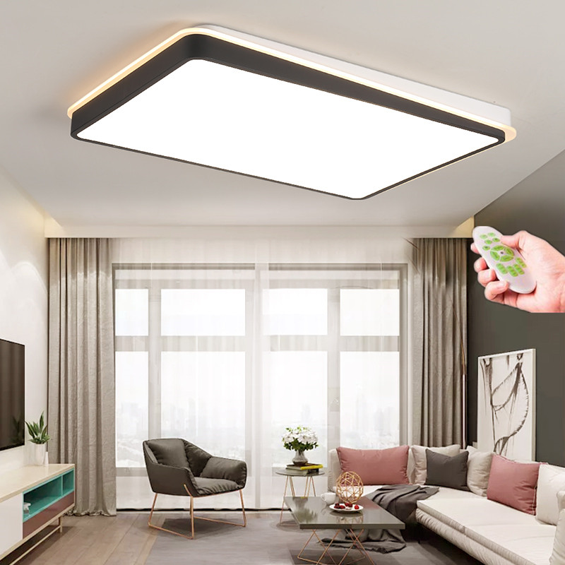 Ultra-thin Surface Mounted Modern Led Ceiling Lights lamparas de techo Rectangle acrylic/Square LED Ceiling lamp fixtures