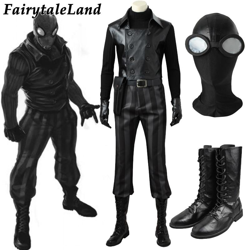 Spider man noir cosplay costume custom made carnival - Spiderman noir 3 ...