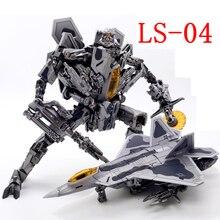Transformacja BMB LS04 czarna Mamba LS 04 Oversize Model samolotu figurka Robot Kid Boy dorosłych mężczyzn zdeformowane zabawki