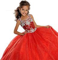 Stock Size4 6 8 10 12 14 Flower Girls Dress Kids Formal Occasion Wedding Gowns
