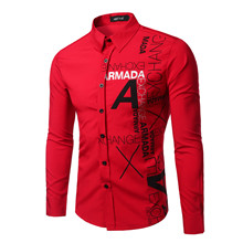 Men Dress Shirts  Size New Arrivals Stylish Slim Fit Male Shirt Solid Long Sleeve British Style Cotton Men's Men African Clothes