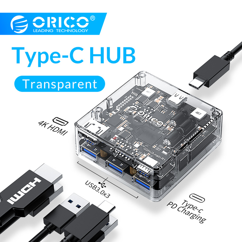 ORICO USB HUB 5 In 1 Type C to Type C HDMI USB3 0 Ports Universal