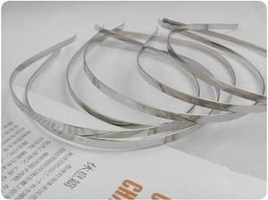 Image 5 - Wholesale 5mm 7mm 10mm Blank Plain Metal Hairband Decorative Metal Headband for Girls Hair Band DIY Craft Hair Hoop 50pcs/lot