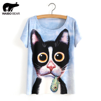 Newest Funny 3D Tops Women Unisex Animal Print T Shirt Cute Dog Print T Shirts Summer