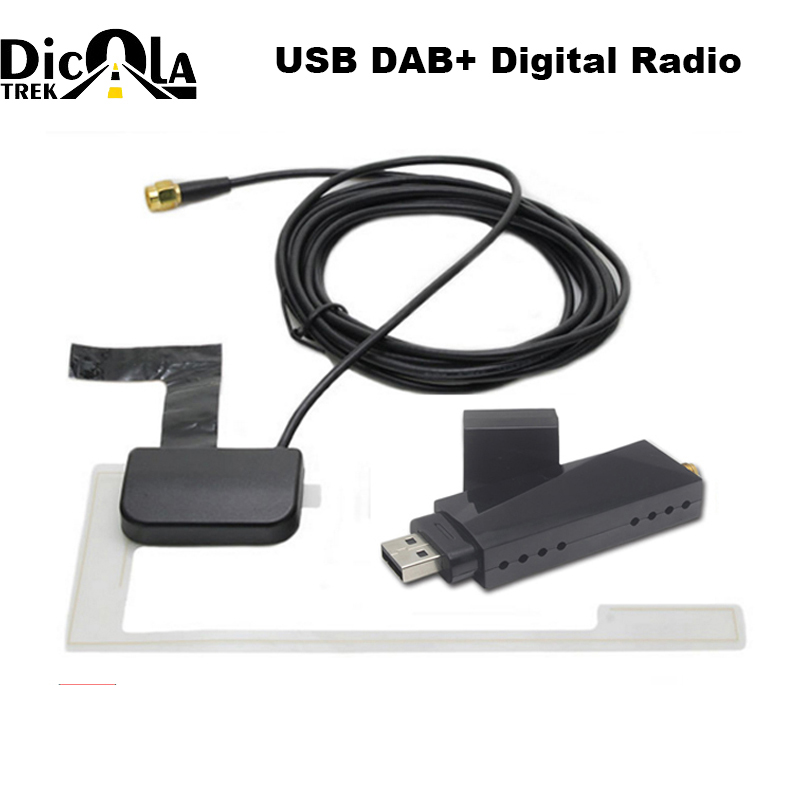 USB 2.0 Digital DAB + Radio Tuner Receiver Stick For Android Car DVD Player Autoradio Stereo USB DAB Android Radio Car Radio-in GPS Receiver & Antenna from Automobiles & Motorcycles