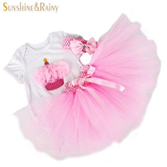 Новорожденный детки комплектов одежды девушки 1 год рождения ну вечеринку платье комплект минни Vestido Infantil Tollder рождественские костюмы