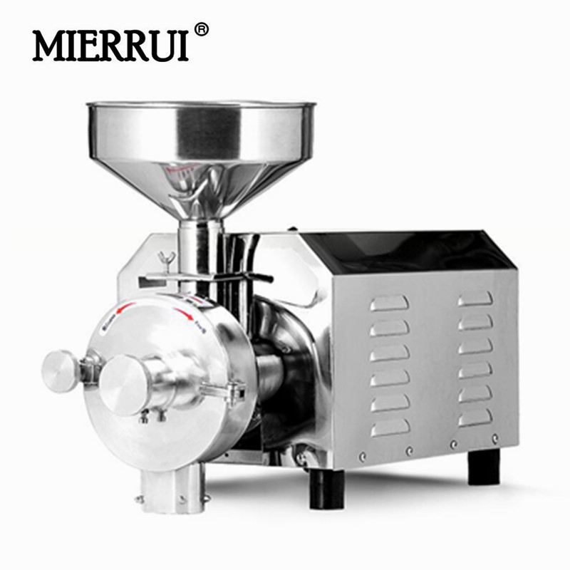 220V/110V Commerical Pulverizer Mill 2.2KW Electric Spices/Pepper/Grain Crusher Stainless Steel Powder Grinding Machine poultry feed grinding mill machine fodder straw grain corn crusher machine with motor