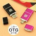 1 UNIDS USB 2.0 2 en 1 Lector de Tarjetas de OTG Micro OTG TF/SD Lector de Tarjetas de Teléfono de Extensión Encabezados Flash Drive Adaptador Para Smartphone/PC