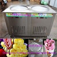 Amercian Fried Ice Cream Roll Machine|Yogurt Frying Machine|Round Pan Ice Cream Frying Machine