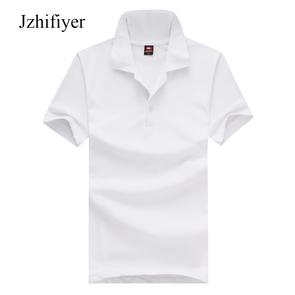 summer men plain tops CVC mesh white shirt polo male men polo shirt business casual solid polo camisa masculina polo plus size in Polo from Men 39 s Clothing
