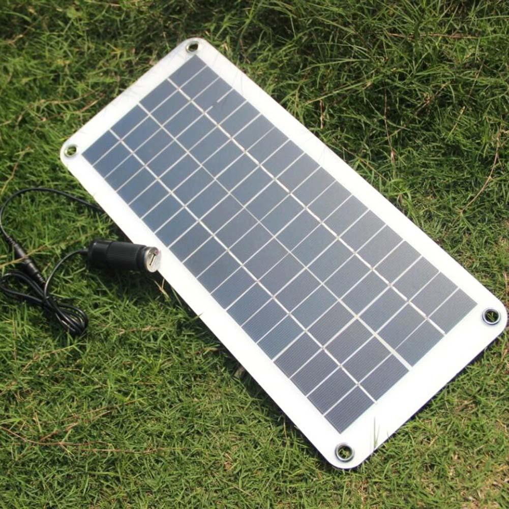 Newest 20W Solar Panel 12V to 5V Battery Charger USB for Car Boat Caravan Power Supply mvpower 5v 5w solar panel bank solar power panel usb charger usb for mobile smart phone