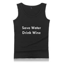 BTS Save Water Drink Wine Sleeveless Tank Top Summer Men Bodybuilding Plus Size Cotton Exercise Workout