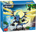 decool building block set compatible with lego Hero Factory thunder dragon 3D Construction Brick Educational Hobbies Toy for Kid