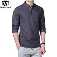 Plus Size 5XL 2016 New Cotton Linen Men Shirt Casual Long Sleeve Male Shirt Slim Fit