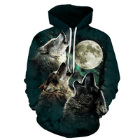 Wolf Pritned Men Women Hoodies 3D Hooded Sweatshirts Autumn Spring Pullover Fashion Tracksuits Animal Brand Quality Outwear