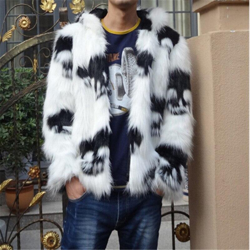 2019 зимнее Мужское пальто из искусственного меха с капюшоном, мужская куртка с лисьим мехом, высококачественное меховое пальто с черепами