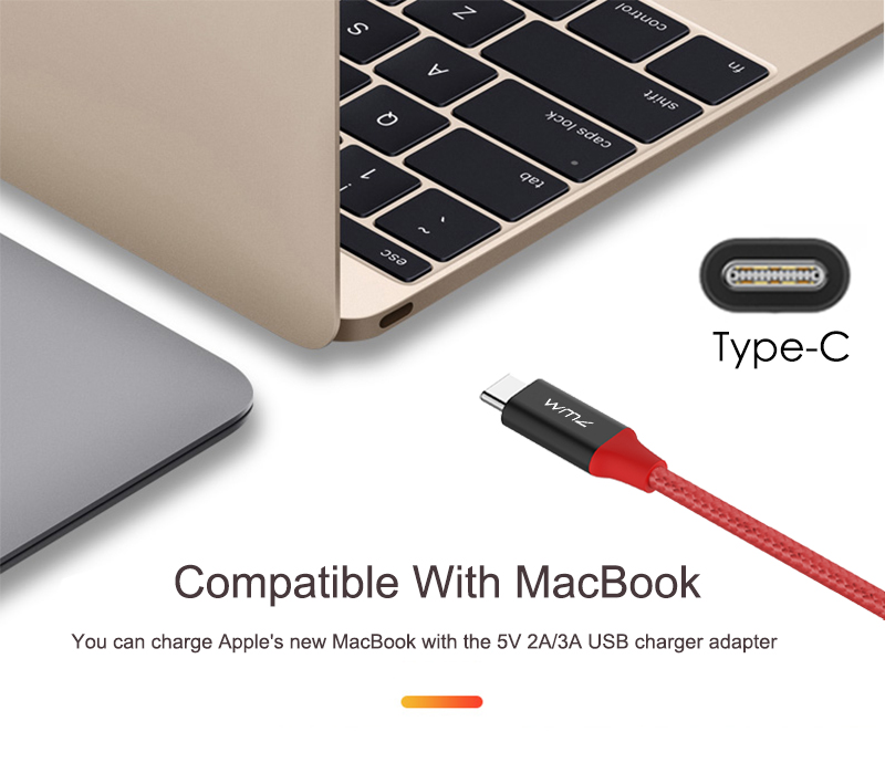 USB Type-C 3.0 Red Braided Cable 9