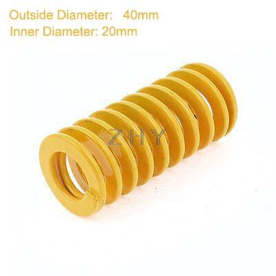 TF 40mm OD 20mm ID 200mm 250mm 300mm longueur jaune lumière charge 65Mn acier métal spirale estampage Compression moule Die printemps