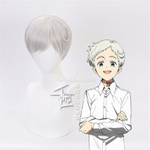 The Promised Neverland Norman Cosplay WIGS Yakusoku no Costume Anime Hair Halloween SILVERY White Short