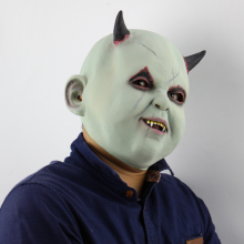 Party Horror Masker Mascaras Cosplay Costume Party Mask Halloween Scary Demon Halloween Mask Zombie Latex Masks Joke Masque halloween rhino demon w two horns mask pink