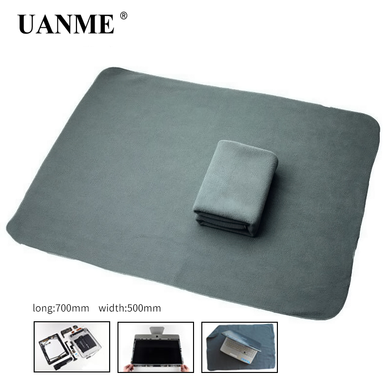 UANME  Anti-static Cloth Work Maintenance Flannel For iPhone iPad Tablet Cell Phone ESD Opening Protection Desk Mat Platform