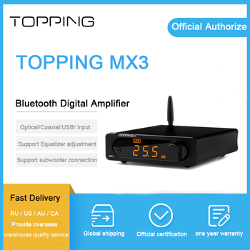 TOPPING MX3 headphone amplifier dac bluetooth audio dac Digital  USB Coaxial input Decoder Headphone Amplifiers amp
