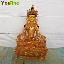 Painted bronze Buddha statue Tibetan interior decoration temple crafts shop hot money