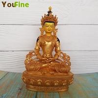Painted bronze Buddha statue Tibetan Buddha interior decoration temple crafts shop hot money