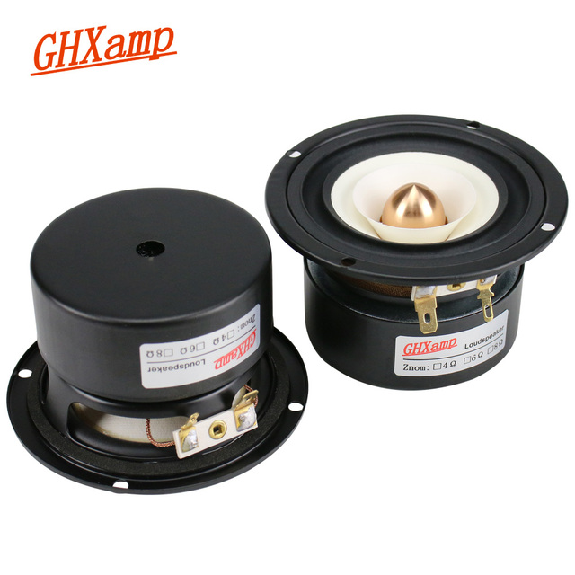 GHXAMP 3 インチ 90 ミリメートルフルレンジ弾丸逆エッジ 4OHM 15 ワットスピーカーホーム天井車 80 60hz の 20 125khz
