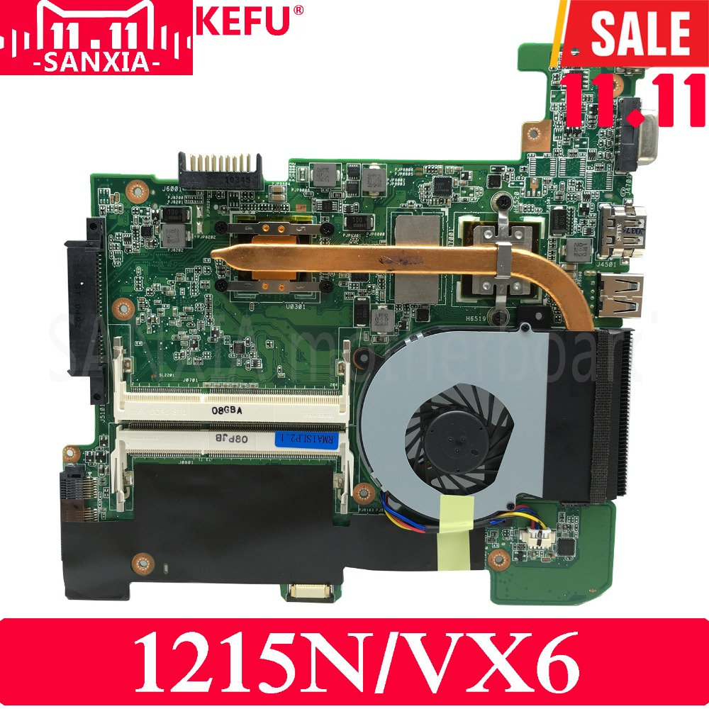 цена на KEFU 1215N/VX6 Laptop motherboard for ASUS 1215P VX6 1215 Test original mainboard with fan (as the picture)