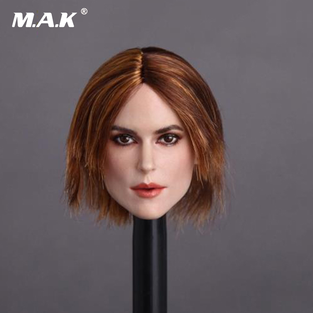 GC007 Curly Hair 1/6 Scale Female Head Sculpt Beautiful Blond Short Head Carving Model For 12 Collectible Action Figure Doll 1 6 scale figure accessories doll female head for 12 action figure doll head shape fit phicne