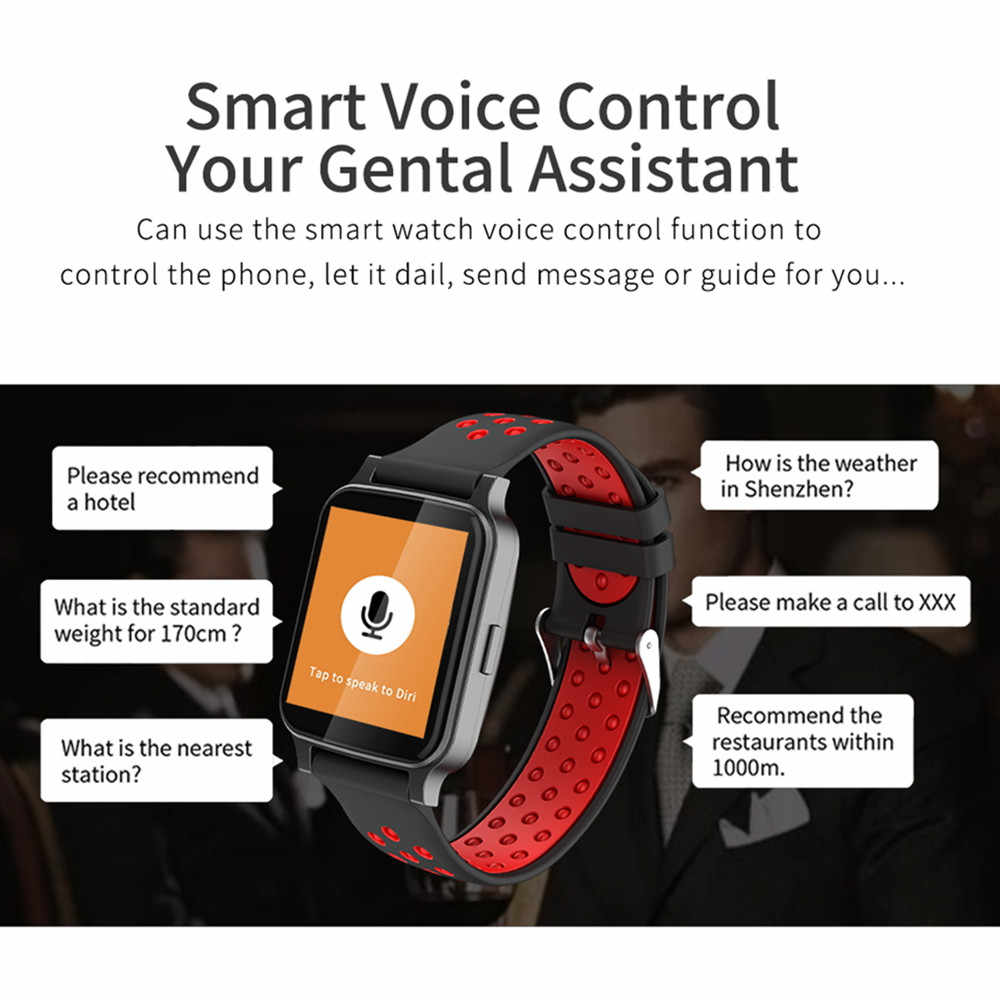 1f75d864841cc ... Bluetooth Smart Watch Tz7 with Voice Assistant Smartwatch Blood  Pressure Wristwatch for Men Women Relogio Android ...