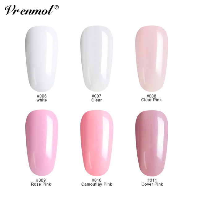 Online Shop Vrenmol 11pcs Polygel Nail Art Sets Transparent Builder