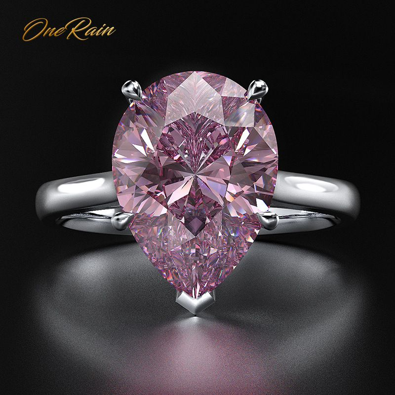 OneRain 100% 925 Sterling Silver Marquise Sapphire Amethyst Diamonds Gemstone Emerald Engagement Couple Rings Jewelry Wholesale