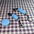 Single hole/76mm/96mm Cerâmica alça cor azul Punho da Mobília do armário de Cozinha puxador de gaveta puxa