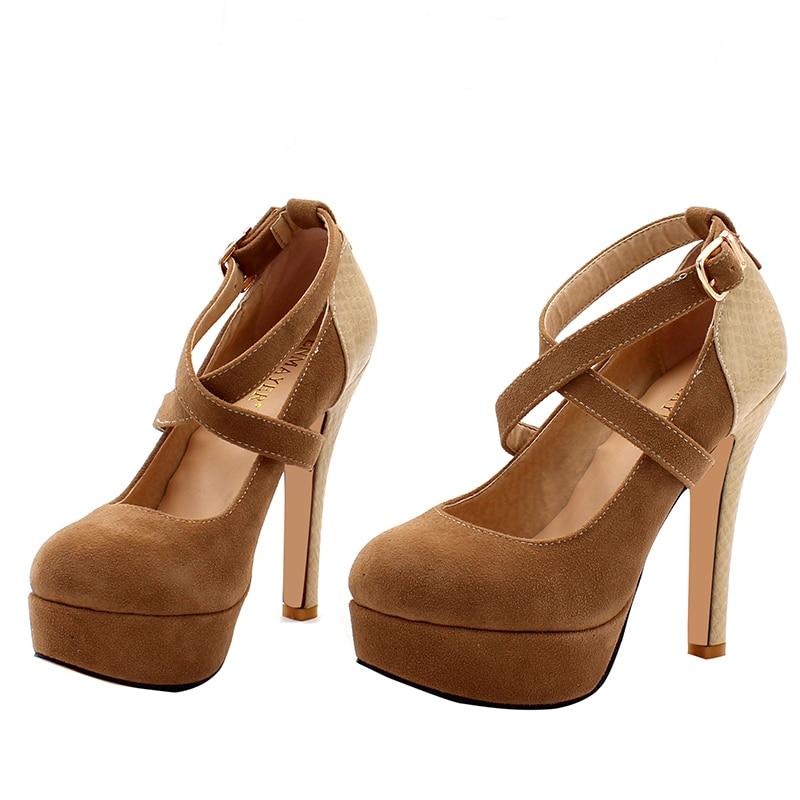 ENMAYER Plataforma de Moda Bombea Sexy Zapatos de tacón alto Tacones - Zapatos de mujer - foto 6