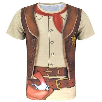 Police Pilot Pirate Tuxedo Prisoner 3D Funny T Shirt22