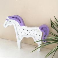 Eenhoorn Paard Hout Decoratie Nachtlampje 3D Led Lamp Nachtlampje Gift Speelgoed Slaapkamer Decor Voor Kids #10