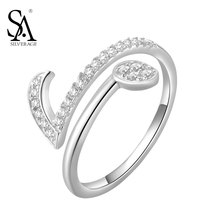 SA SILVERAGE Authentic 925 Sterling Silver Jewelry Note Symbols Rings for Women New Original Design Party Rings Fine Jewelry