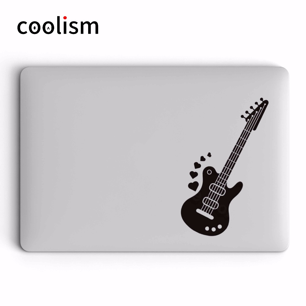 electric guitar vinyl laptop sticker for apple macbook decal pro air retina 11 12 13 14 15 inch. Black Bedroom Furniture Sets. Home Design Ideas