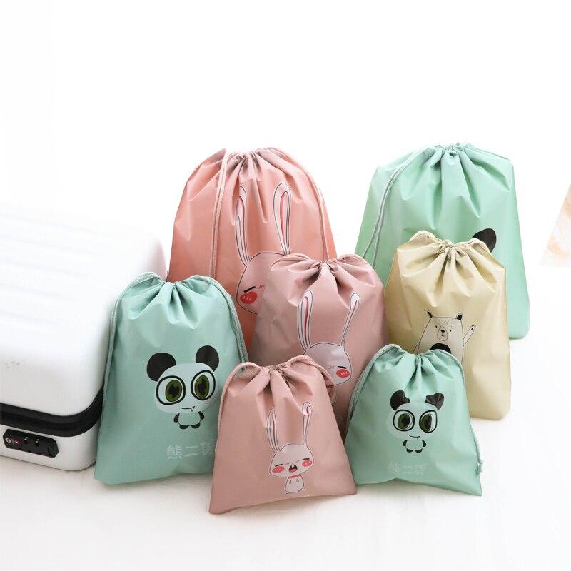 Мультфильм Животные гидроизоляция набивной хранения сумки нижнее белье луч мешок 1 шт. Одежда для малышей Drawstring косметический конфеты