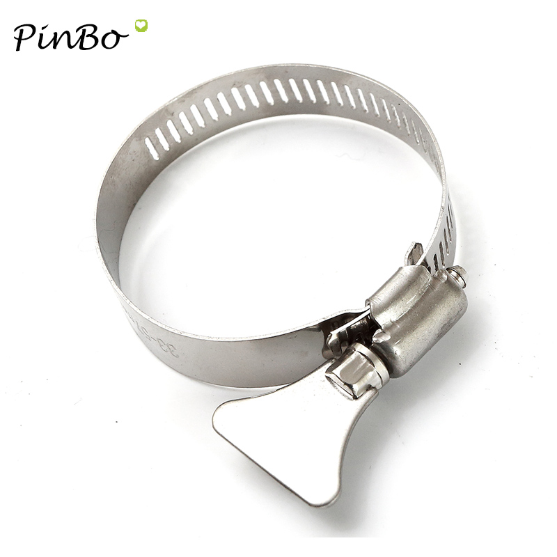 Clip Pack of 4 Petrol Fuel Line Pipe 100/% Stainless Steel Mini Hose Clamp