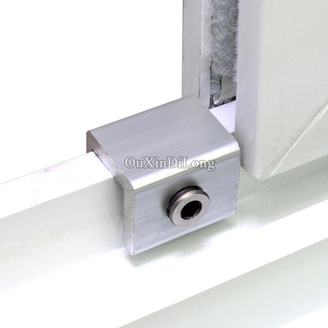 Hot 4PCS Plastic Steel Door And Window Track Locks Sliding Window Limit Lock  Anti Theft